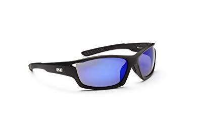Optic Nerve Boneyard Sunglasses, Matte Black, Polarized Smoke with Blue Zaio Lens